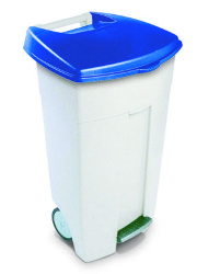 Контейнер на колёсах Rubbermaid Eco Step-Ont 106 л. / бело-синий / R050035